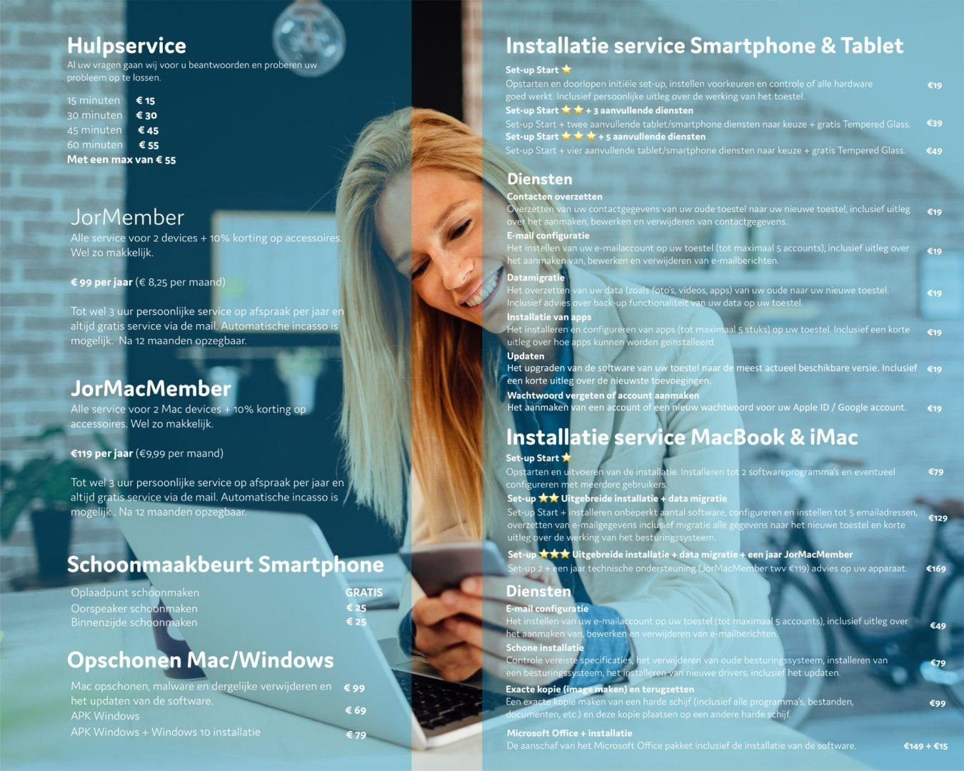 Installatie service Smartphones en tablet, uitleg over je telefoon. Of we zetten gegevens voor je over door middel van een reservekopie.